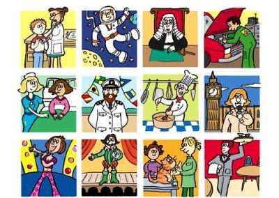 Job Illustrations - Danish Illustrated Dictionary