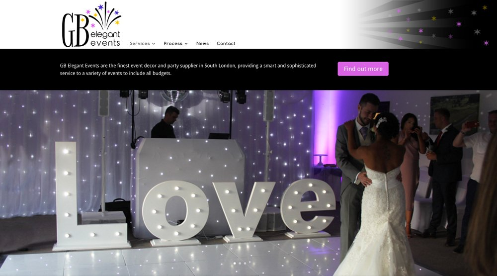 Branding and Website for GB Elegant Events