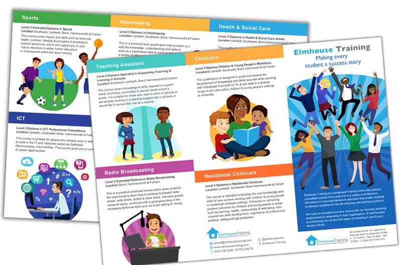 Illustrated Brochure for Elmhouse Training