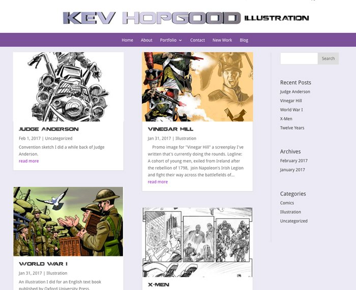 Kev Hopgood- New blog section
