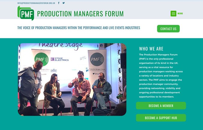 Production Managers Website & Logo