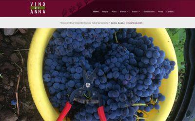 Redesign of website for vino di anna