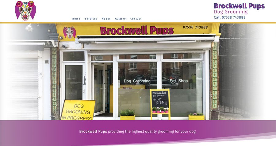 New website for Brockwell pups