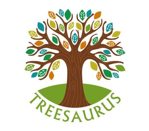 Treesaurus logo - Lucy Maddison design
