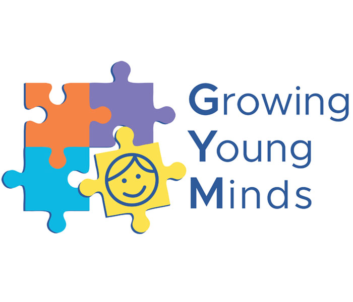 Growing young minds  tutoring logo Lucy Maddison Logo Design Streatham South London