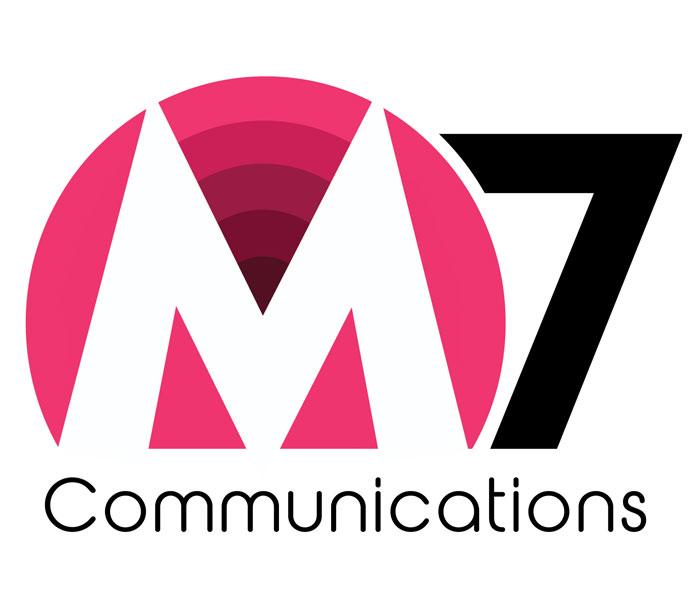 M7 communications logo Lucy Maddison Logo Design Streatham South London
