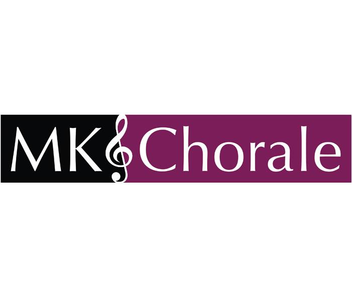 Lucy maddison design logo streatham South London Mk chorale choir logo