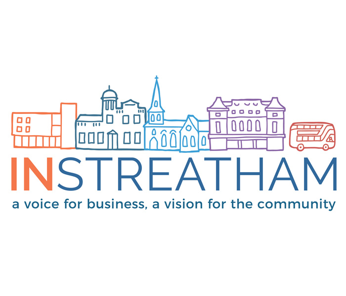 In Streatham business BID logo  Lucy Maddison Logo Design Streatham South London