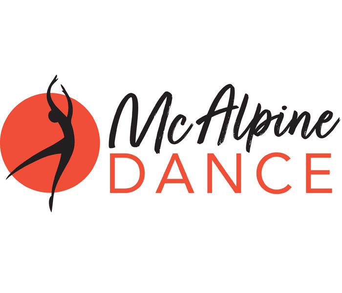 Mc Alpine dance logo Lucy Maddison Logo Design Streatham South London
