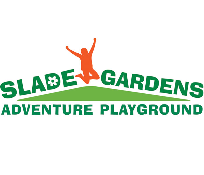 Slade gardens adventure playground logo Lucy Maddison Logo Design Streatham South London