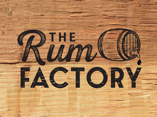 The Rum factory logo  Lucy Maddison Logo Design Streatham South London