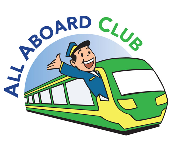 All aboard logo Lucy Maddison Logo Design Streatham South London